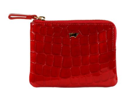 Braun Büffel Geldbörse / Schlüsseletui Verona Glanzkroko Rot, 40012