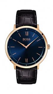 Hugo Boss Herren Uhr Essential Leder dunkelbraun, 1513661