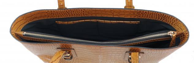 Armani Collezioni Leder Shopper 926007, Light Brown - Vorschau 2