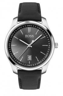 Hugo Boss Herren Uhr Circuit Leder Schwarz, 1513729
