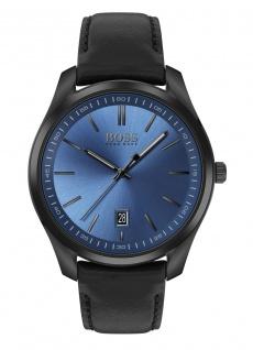 Hugo Boss Herren Uhr Circuit Leder Schwarz, 1513727