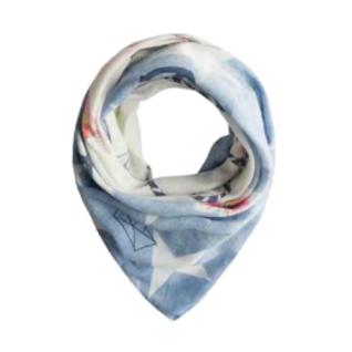 Codello Schal Karma Heart Belts Star Digital, Blau 91043805