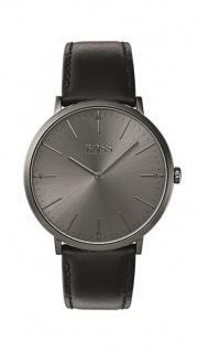 Hugo Boss Herren Uhr Horizon Leder schwarz, 1513540