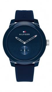 Tommy Hilfiger Herren Uhr Denim Sport Silikon Blau, 1791803