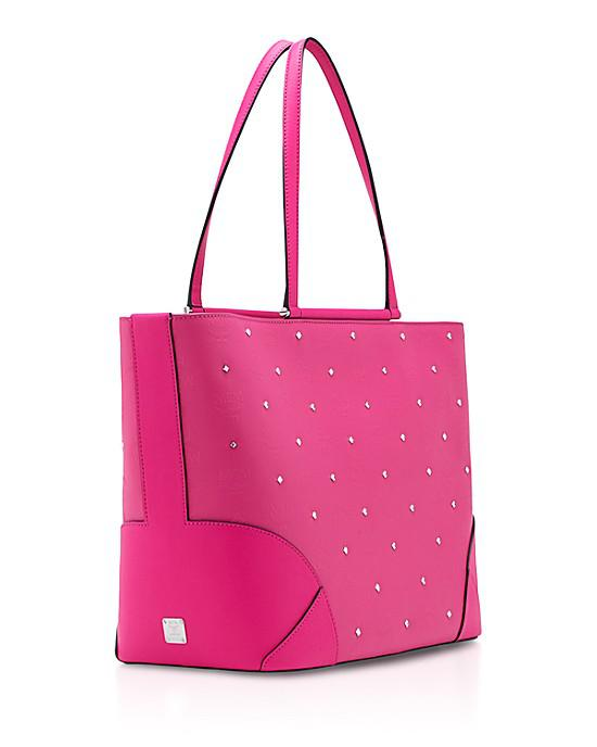 MCM Claudia Studs Shopper medium Pink - Vorschau 2