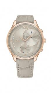 Tommy Hilfiger Damen Uhr Meg- Dressed Up Leder Grau, 1782131