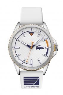 Lacoste Herrenuhr Nautical Silikon Weiß, 2011028