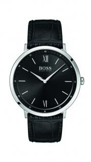 Hugo Boss Herren Uhr Essential Leder schwarz, 1513647