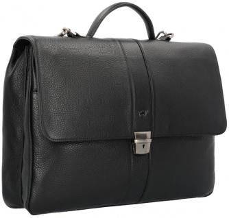 Braun Büffel Aktentasche Turin schwarz, 60125S - Vorschau 2