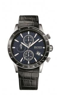 Hugo Boss Herren Uhr Rafale Leder schwarz, 1513391