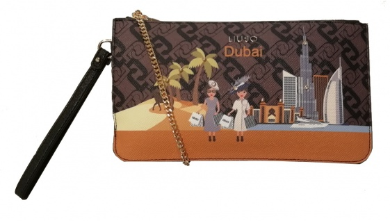 LIU.JO Umhängetasche / Clutch mit Stadt-Print, Dubai - Vorschau