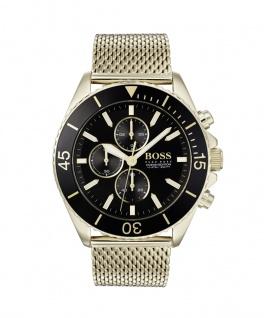 Hugo Boss Herren Uhr Ocean Edition Chrono Edelstahl Gold, 1513703