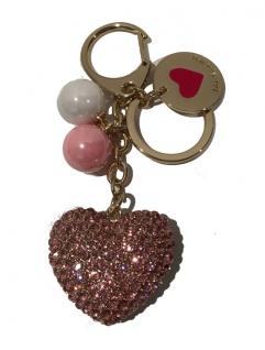 Love Moschino Taschen- / Schlüsselanhänger Herz, Gold