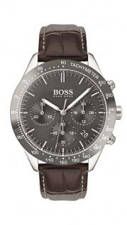 Hugo Boss Herren Uhr Talent Leder braun, 1513598