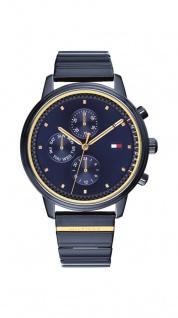 Tommy Hilfiger Damen Uhr Edelstahl blau by Gigi Hadid, 1781893