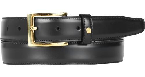 Aigner Gürtel Basic mit S-Schließe gold 125625 schwarz