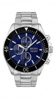 Hugo Boss Herren Uhr Ocean Edition Chrono - Athleisurel Edelstahl Silber, 1513704
