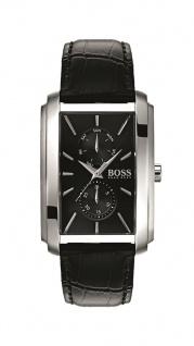 Hugo Boss Herren Uhr Ambition Leder schwarz, 1513591