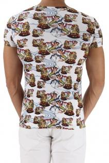Emporio Armani V-Neck T-Shirt, Seemannsprint weiß 110810 6P502 - Vorschau 3