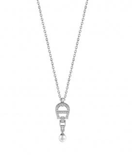 Aigner Kette mit Kristallen, silber, A640179