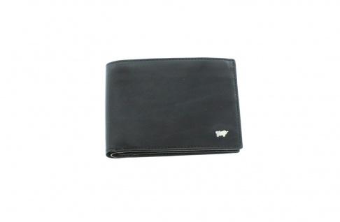 Braun Büffel Geldbörse Gaucho Querformat schwarz, 33121