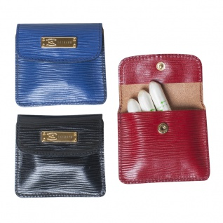 HCL Mini-Portemonnaie/ Tampon-Etui-Leder blau