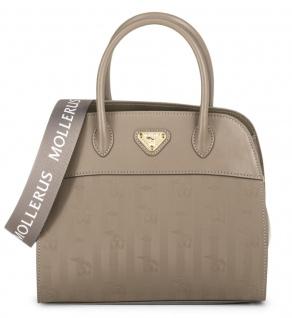 Maison Mollerus Vinerus Taupe Handtasche, Yens Gold