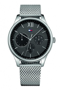 Tommy Hilfiger Herren Uhr Edelstahl silber, 1791415