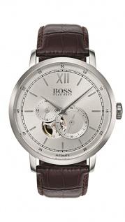 Hugo Boss Herren Uhr Signature Timepiece Leder braun, 1513505