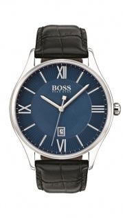 Hugo Boss Herren Uhr Governor Leder schwarz, 1513553