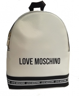 Love Moschino Rucksack, Weiß