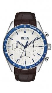 Hugo Boss Herren Uhr Trophy Leder braun, 1513629