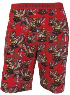 Emporio Armani Herren Bermuda Shorts, rosso stampato, 111004 6P502 Größe L