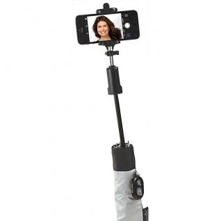 Happy Rain Regenschirm Selfie Stick, schwarz - Vorschau 3