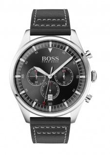 Hugo Boss Herren Uhr Pioneer Leder Schwarz, 1513708