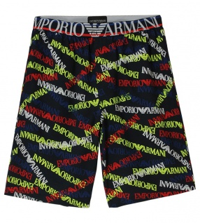 Emporio Armani Herren Bermuda Shorts, EA marine stampato 111004 6P508 Größe XL