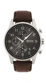 Hugo Boss Herren Uhr Navigator Leder braun, 1513494