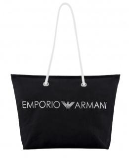 Emporio Armani Badetasche / Strandtasche, Schwarz 262653