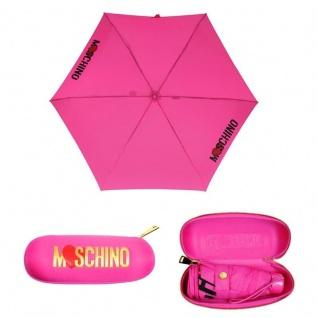 "Moschino Taschenschirm "" Heart Logo"" Supermini Automatik, Pink"