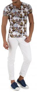 Emporio Armani V-Neck T-Shirt, Seemannsprint weiß 110810 6P502 - Vorschau 4