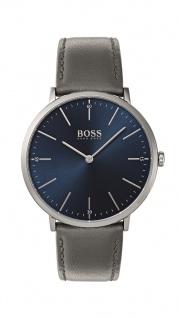 Hugo Boss Herren Uhr Horizon Leder grau, 1513539