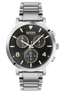Hugo Boss Herren Uhr Spirit Edelstahl Silber, 1513736