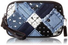 Coach Clutch / Crossbody Bag, Denim Skull Print 65723