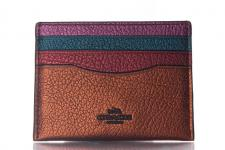 Coach Kreditkartenetui/ Flat Card Case Metallic Rusti Multi, 59977