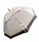 Happy Rain Stockschirm transparent schwarz, 40973