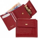 Braun Büffel Geldbörse Glanzkroko rot, 40304A