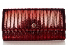 Aigner Fashion Geldbörse, Metallic Look, 156133 Brick Red
