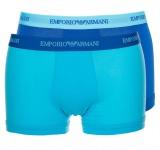 Emporio Armani 2er Set, Stretch Cotton Trunk, türkis/blau Größe S
