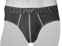 Emporio Armani Stretch Cotton Slip, 110814 5A527 Jeansoptik schwarz Größe L