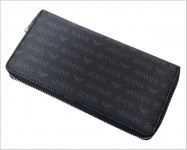 Armani Jeans Portemonnaie Zip Around, Nero
